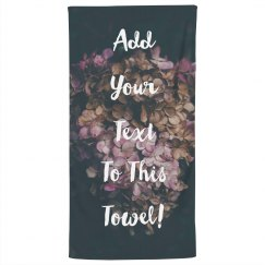 Create A Custom Bath Towel!