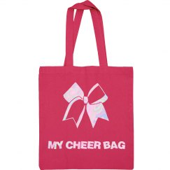 Pink Cheer Tote Bag