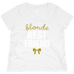 Curvy Blonde Best Friend Tee