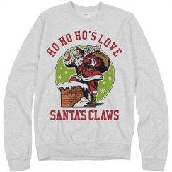 Ho Ho Ho's Love Santa's Claws Xmas