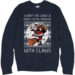 Drinking With Claws Xmas Sweater