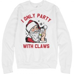 Santa Claws Ugly Drinking Sweater