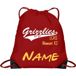 Grizzlies Personalized Drawsting Bag