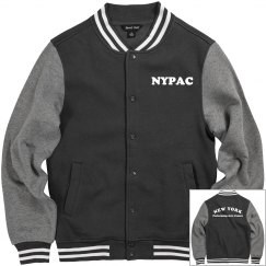FLEECE VARSITY JACKET- Can be personalized