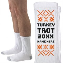 Ugly Sweater Turkey Trot Socks