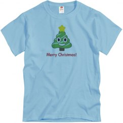 Christmas Poop Tree blue