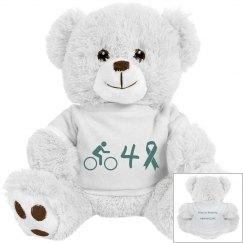 Bike For a Cure - stuffed unicorn