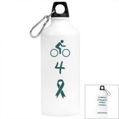 Bike for a Cure - Aluminum Water Bottle