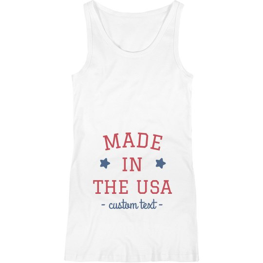 95b53dd065e51 Made in the USA Custom Maternity Tank Ladies Maternity Tank Top