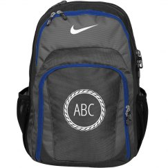 Custom Initials Monogram Nike School Backpack