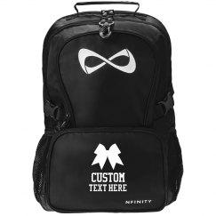 Custom Cheerleader Practice Backpack With Bow