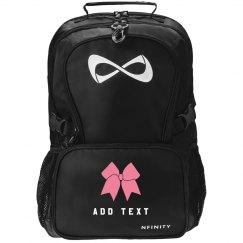 Custom Name/Text Cheerleader Bow Practice Backpack