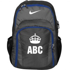 Custom Monogram/Initials Keep Calm Crown Backpack