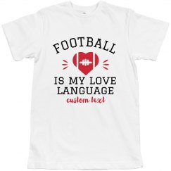 Football Love Language Tee