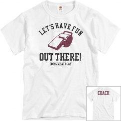Funny Football Coach Shirt With Custom Text