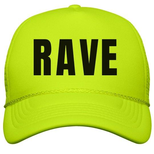 rave neon yellow hat neon snapback trucker hat