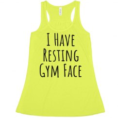 Resting Gym Face Funny Fitness