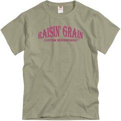 Raisin' Grain Tee - Pink Words - Front Design
