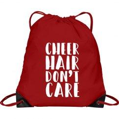 Cheer Hair Don't Care Cinch Bag