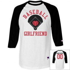 A Baseball Girlfriend Tee With Custom Name Number
