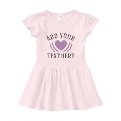 Add Your Text Custom Baby Dress