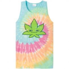 Tie Dyed Weed Muscle Tank