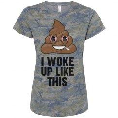 Funny Emoji Weed Camouflage Tee