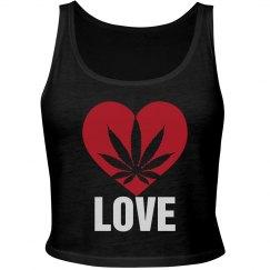 Heart Ganja Love Tank