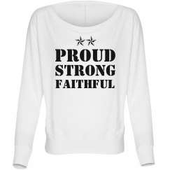Proud Strong Military Girlfriend