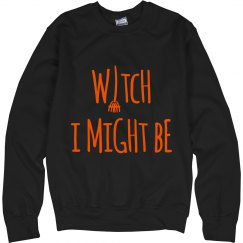 Witch I Might Be Crewneck