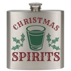 Christmas Spirits Flask
