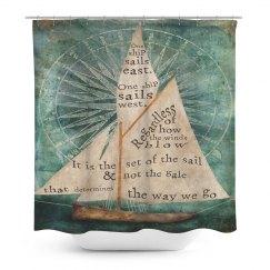 Sail Boat Shower Curtain