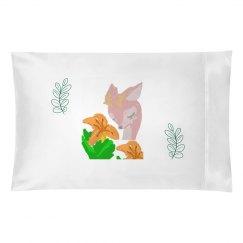 DaintyDeer& Lilies Pillow