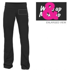 Wake up & Makeup yoga pants