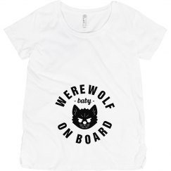 Werewolf Baby On Board White