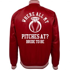 Trendy Baseball Bachelorette Bride Jacket