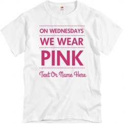 Pink Wednesday Custom Breast Cancer