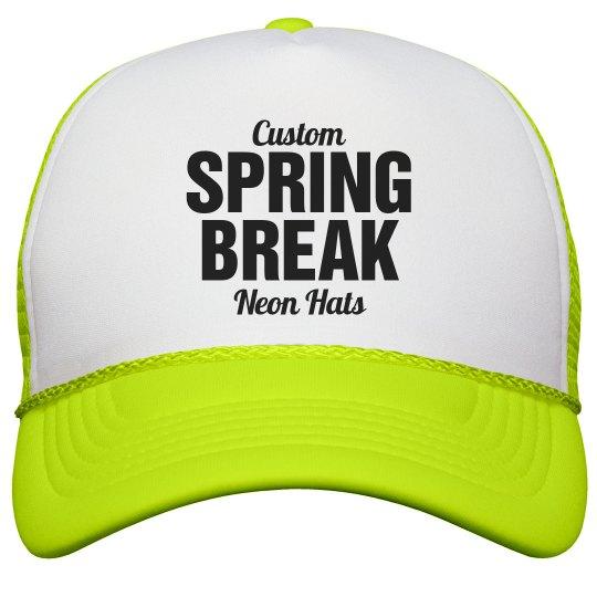 Spring Break Neon Hats Neon Snapback Trucker Hat ff44dd6b1222
