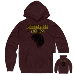 Potterville Vikings Sweatshirt - Basketball