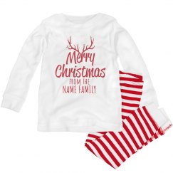 Custom Family Christmas Reindeer Pj's