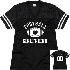 Cute Sporty Custom Football Girlfriend Jerseys