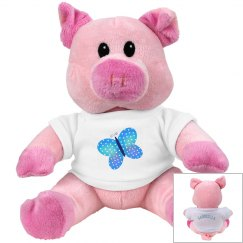 Plush Pig: Butterfly