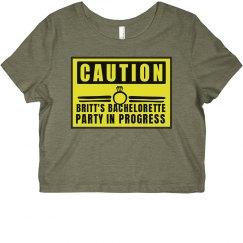 Funny Caution Custom Bachelorette Design