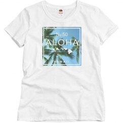 Aloha Hawaii Swaying Palm Tree Shirt