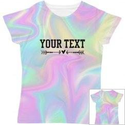 Custom 90's Hologram Women's Shirt