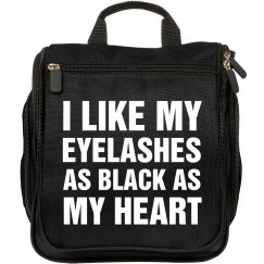 Black Eyelashes and Heart