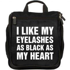 Black Eyelashes and Heart