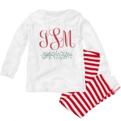 Christmas Monogram Custom Pajamas