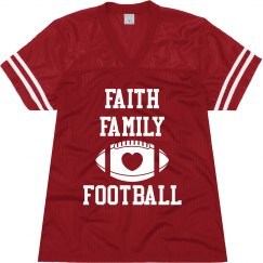 Faith football mesh jersey