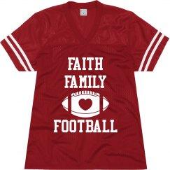 Faith football mesh jersey